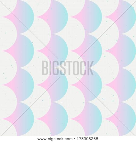 Fish scale abstract tender seamless pattern in pink and white color. Japanese motif. Vector backgrounds for fabric wallpaper and wrap.