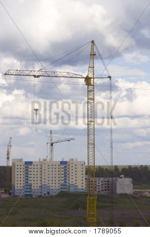 Yellow High Crane
