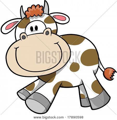 Happy Cow Vector Illustration