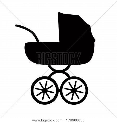 icon baby stroller. Flat stroller icon. Symbol stroller. Vector illustration