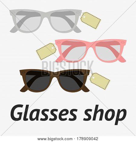 Glasses Shop Illustration
