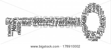 Mindset To Attract Money text background wordcloud concept