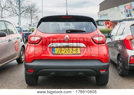 Rear View Of Subcompact Crossover Renault Captur