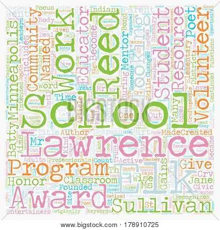 Minneapolis School District Honors Volunteers text background wordcloud concept