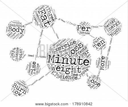 Minute Weight Loss Exercise Proves Most Effective Word Cloud Concept Text Background