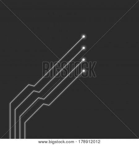 Simple White Diods Lines On Grey Background Illustration