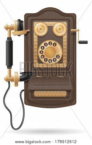 phone old retro icon stock vector illustration isolated on white background
