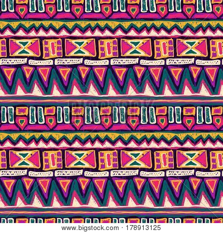 Sketch Pattern Doodle Tribal Scribble Ornament Colorful 2
