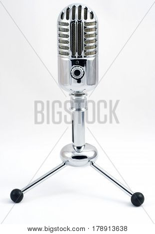 Condenser Microphone With Volume Knob In Retro Style Of Fifties
