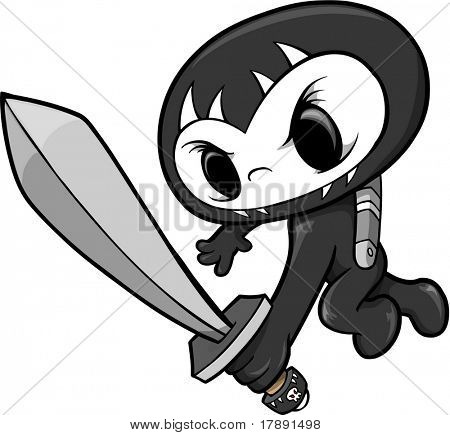 Skull Ninja Vector Illustration