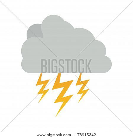 cumulus cloud with storm and thunder vector illustration