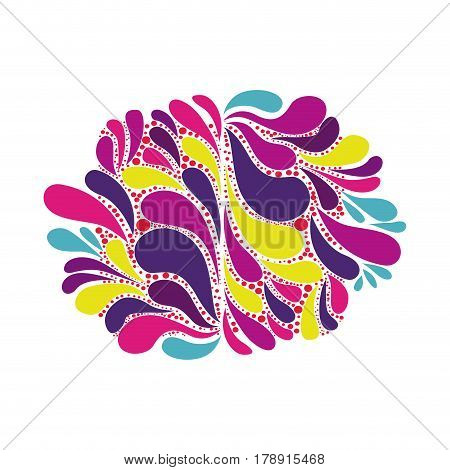 abstract colorful arc-drop background creative symbol vector illustration