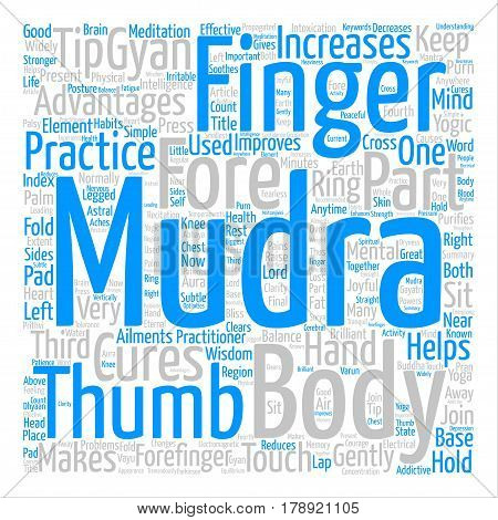 Mudras For Good Health Word Cloud Concept Text Background