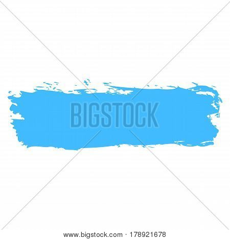 Blue color brushstroke paint created in sketch drawing handmade technique. Quick and easy recolorable vector illustration graphic element