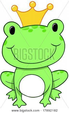 Frog Prince Vector Illustration