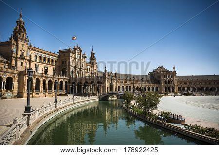 Plaza de Espana in Seville in Andalusia