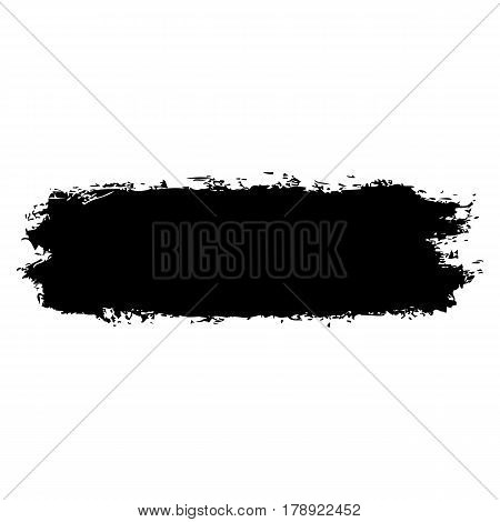 Black color brushstroke paint created in sketch drawing handmade technique. Quick and easy recolorable vector illustration graphic element