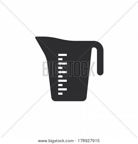 Measuring Jug cup icon vector solid flat sign pictogram isolated on white logo illustration