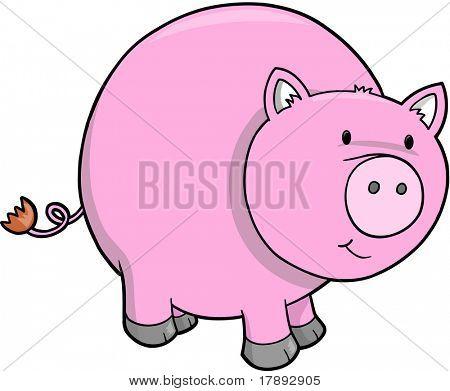 Vector Illustration of Pig