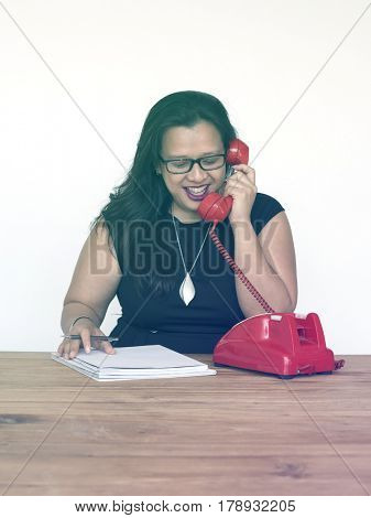 Woman talking with someone on the phone