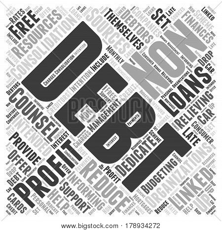 Non profit Debt Consolidation Word Cloud Concept
