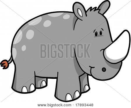 Rhinoceros Vector Illustration