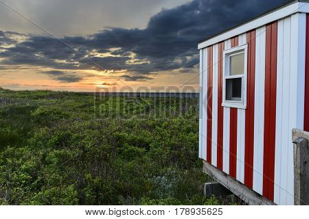 Beach Hut Along Coast of PEI Canada
