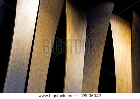 Grunge interior photo of wood wall with lateral lighting