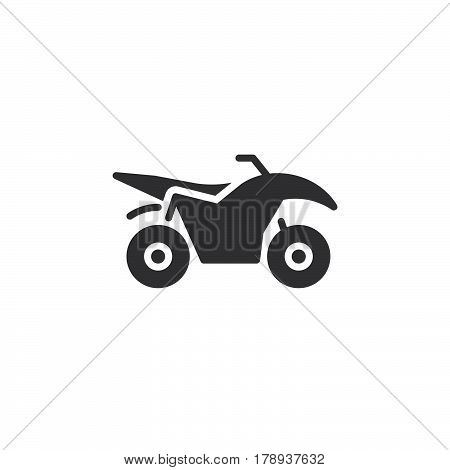 Quad bike icon vector filled flat sign solid pictogram isolated on white logo illustration