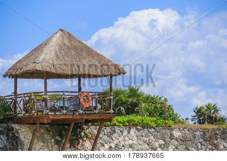 Romantic spa on the caribbean beach. Mexico