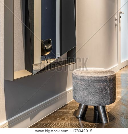 Decorative Stool In Home Corridor