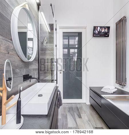 Spacious Bathroom Interior