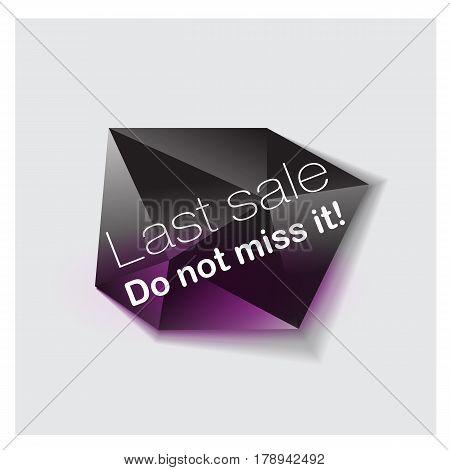 Big Sale Banner. Cristal. Vector Illustration Bright lighting