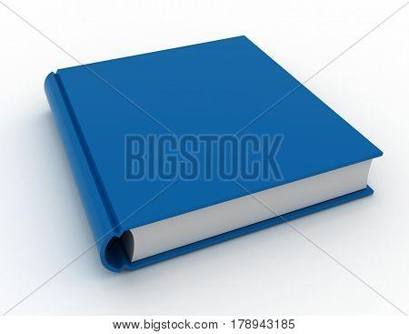 Big blue book. 3d render illustration .