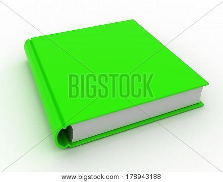 Big green book. 3d render illustration . rendered illustration