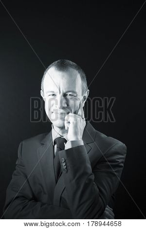 Businessman In Suit Aged 40S