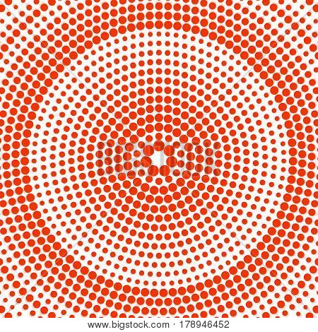 Abstract dotted background. Colorful radial pattern. Vector
