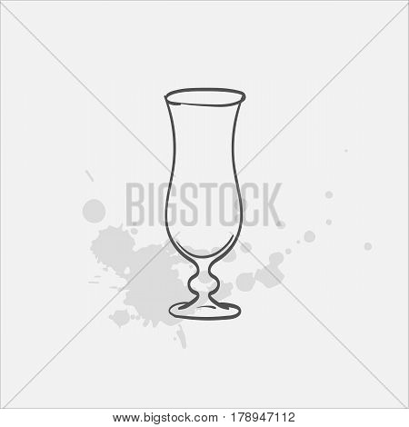 hurricane glass hand drawn icon - vector illustration