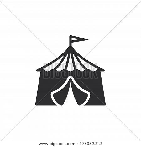 circus tent icon vector filled flat sign solid pictogram isolated on white logo illustration