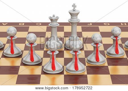 Chess tactical and strategy concept. 3D rendering