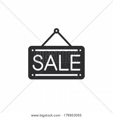 Sale door plate icon vector filled flat sign solid pictogram isolated on white logo illustration