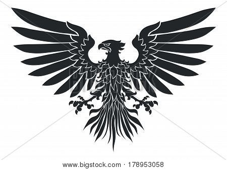 Vector illustration of coat-of-arms bird Medieval Eagle of my own design