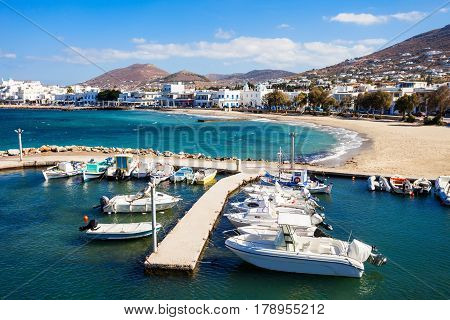 Boats In Paros Port