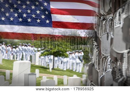 Honoring Those Who Served Collage. Great for veterans or Memorial Day.