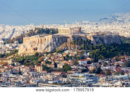 Athenian Acropolis In Greece