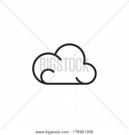 Cloud line icon outline vector sign linear pictogram isolated on white. Weather forecast symbol logo illustration