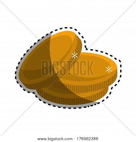 metal gold coins money, vector illustration design