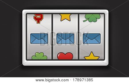 Slot Machine Cloud Envelope Folder Battery