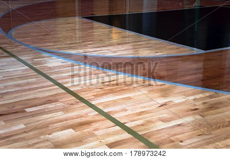 Gym with a beautiful interior hardwood floor. Wood flooring. Various of hardwood floor. Close-up of oak hardwood floor. Dark hardwood floors.