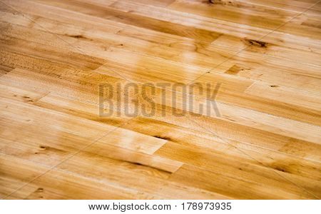 Wooden floor. Wooden flooring. Wooden floors. Floor made of natural wood. Home interior wooden floor. Gold wooden floor.